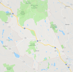 Map of Warner NH
